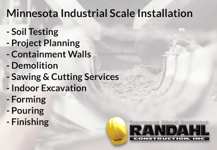 MN scale installations - Concrete services