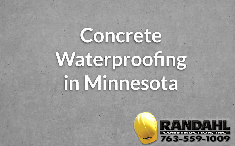 Concrete Waterproofing in Minnesota