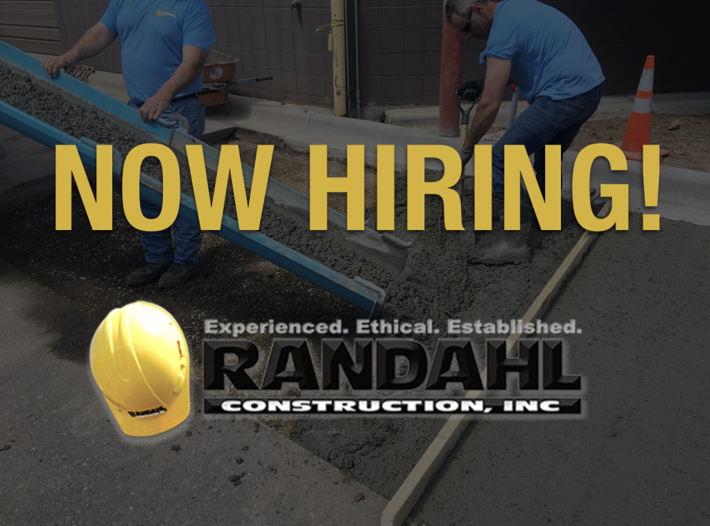 Now hiring concrete laborers in Minnesota