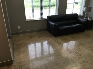 polished office flooring